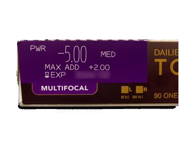 Dailies TOTAL1 Multifocal (90 lentile) - Parametrii lentilei