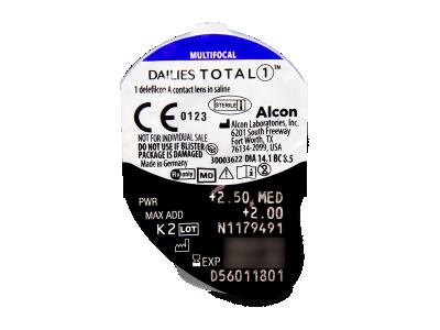 Dailies TOTAL1 Multifocal (90 lentile) - Vizualizare ambalaj