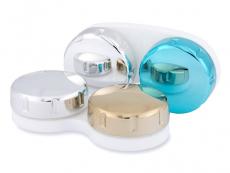 Suport pentru lentlle de contact - oglindă auriu