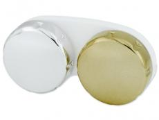 Suport lentile de contact - Suport pentru lentlle de contact - oglindă auriu