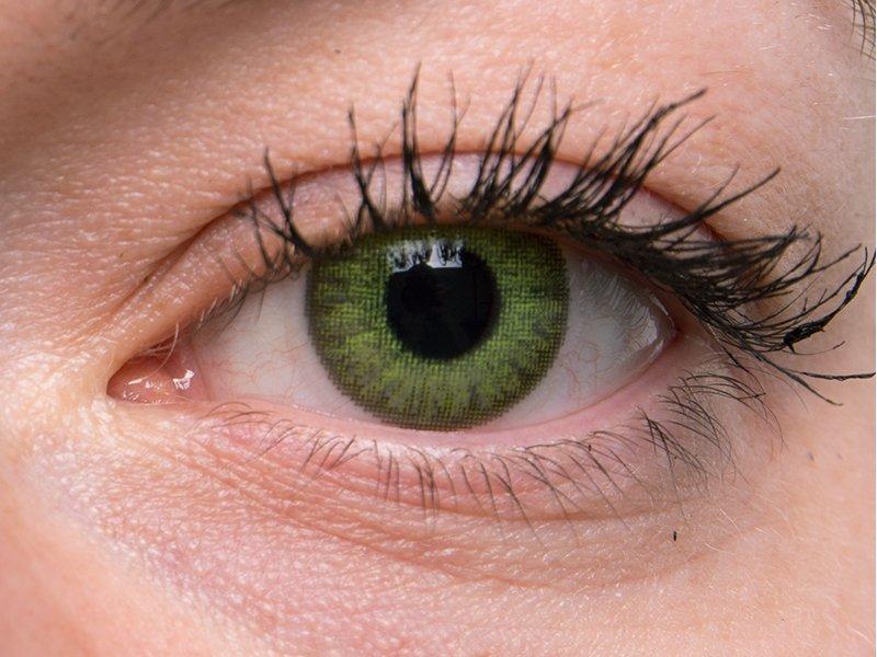 Fresh green on grey eye
