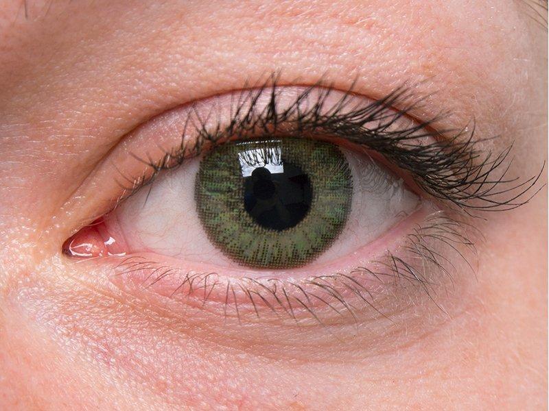 Green on grey eye