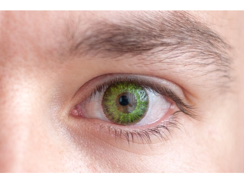 fresh green on brown eye