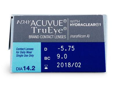 Parametrii lentilei - 1 Day Acuvue TruEye (30lentile)