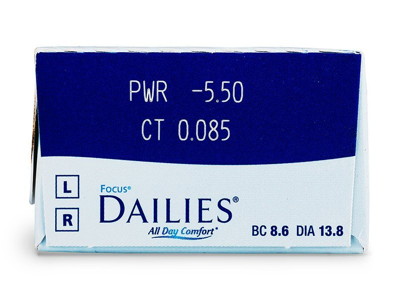 Focus Dailies All Day Comfort (30lentile) - Parametrii lentilei