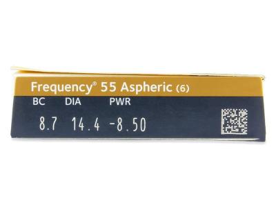 Frequency 55 Aspheric (6lentile) - Parametrii lentilei