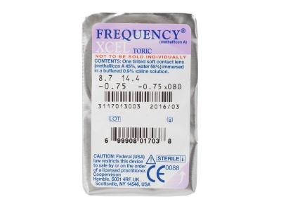 FREQUENCY XCEL TORIC (3lentile) - Vizualizare ambalaj