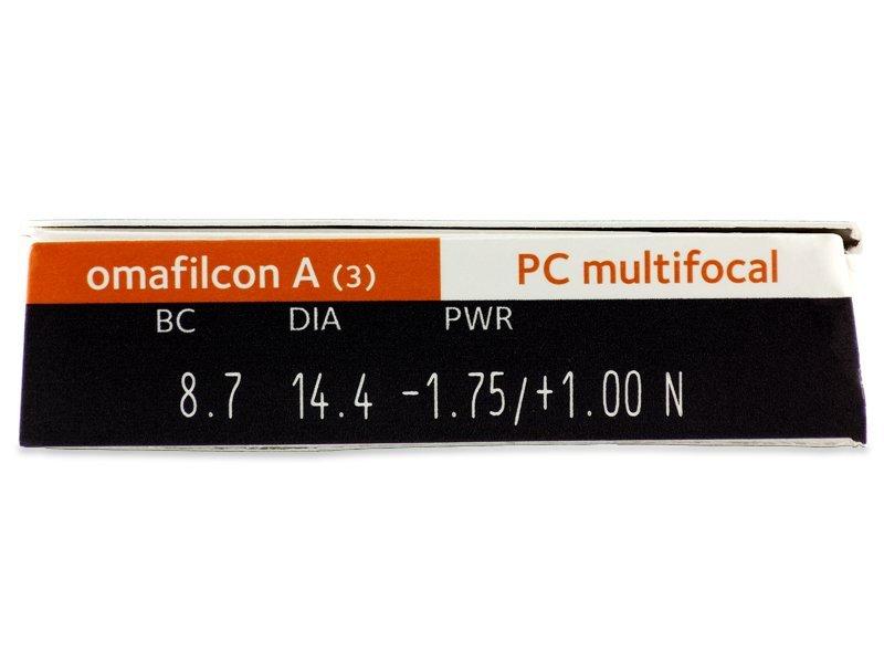 Parametrii lentilei - Proclear Multifocal (3lentile)