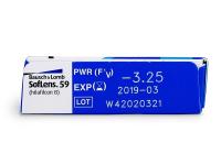 SofLens 59 (6lentile) - Parametrii lentilei
