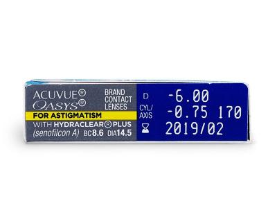 Parametrii lentilei - Acuvue Oasys for Astigmatism (6lentile)