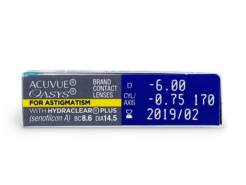 Acuvue Oasys for Astigmatism (6lentile) - Parametrii lentilei