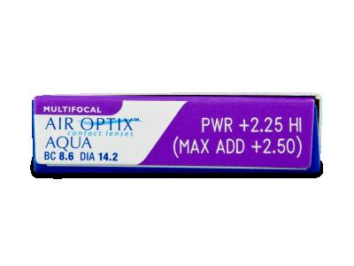 Air Optix Aqua Multifocal (3lentile) - Parametrii lentilei
