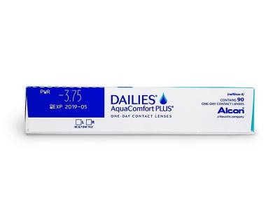 Dailies AquaComfort Plus (90lentile) - Parametrii lentilei