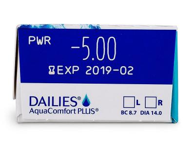 Parametrii lentilei - Dailies AquaComfort Plus (30lentile)