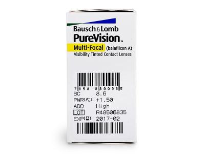 PureVision Multi-Focal (6lentile) - Parametrii lentilei