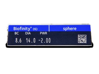 Biofinity (6lentile) - Parametrii lentilei