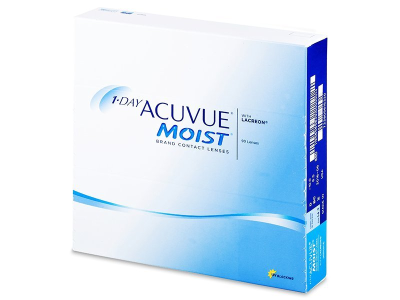 1 Day Acuvue Moist (90 lentile) - Lentile de contact de unică folosință - Johnson and Johnson