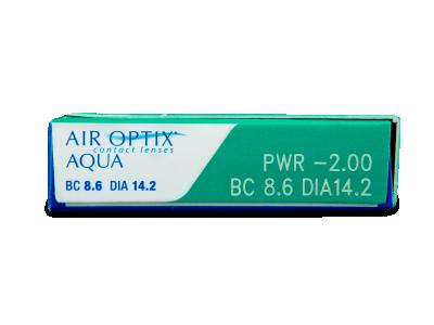 Air Optix Aqua (6lentile) - Parametrii lentilei