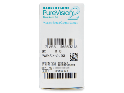 PureVision 2 (6lentile) - Parametrii lentilei