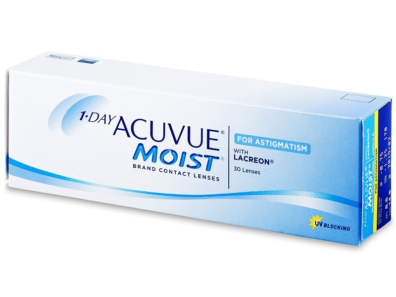 1 Day Acuvue Moist for Astigmatism (30 lentile) - Lentile de contact torice - Johnson and Johnson