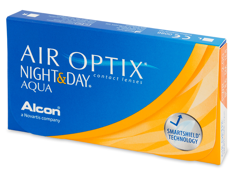 Air Optix Night and Day Aqua (6 lentile) - Lentile de contact lunare