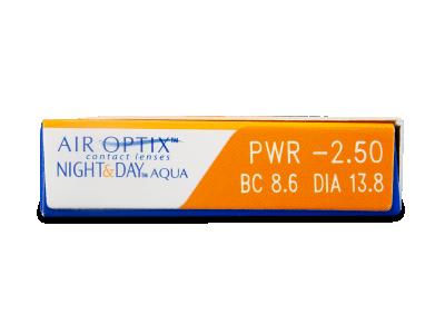 Air Optix Night and Day Aqua (3lentile) - Parametrii lentilei
