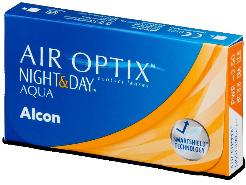 Air Optix Night and Day Aqua (3lentile) - Lentile de contact lunare