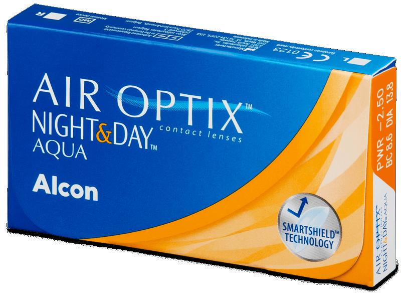Air Optix Night and Day Aqua (6lentile) - Lentile de contact lunare